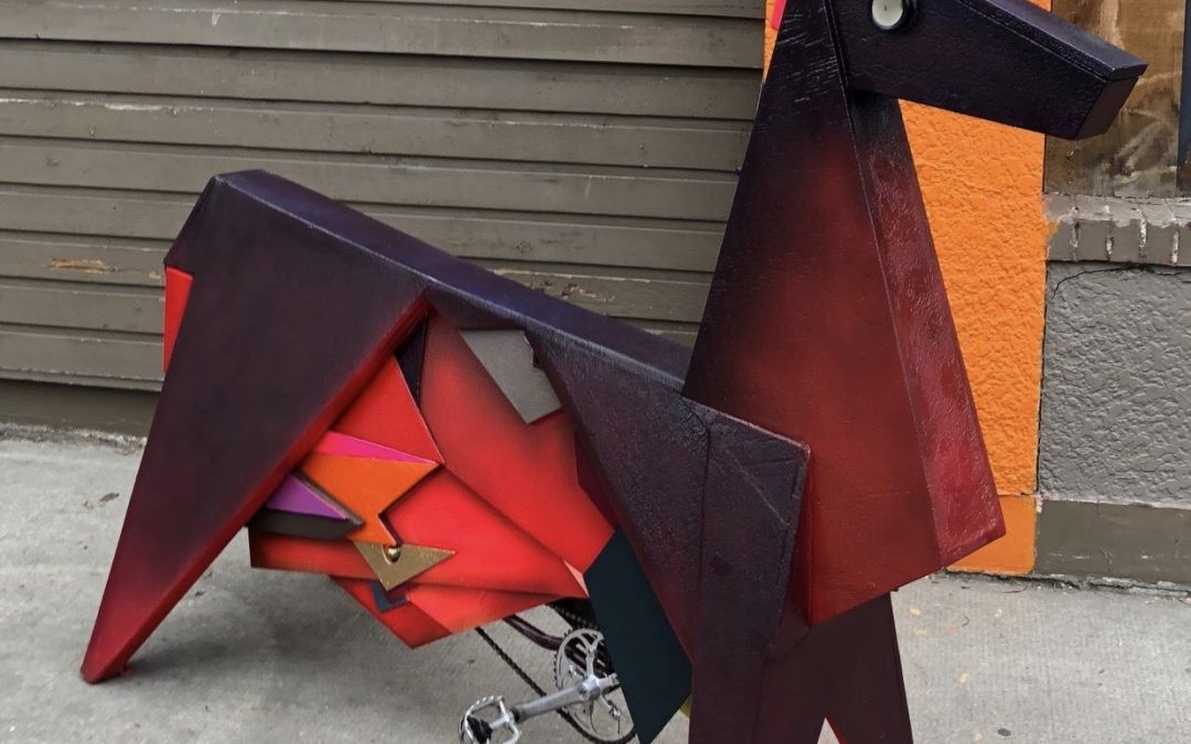"""""""Dale the Origami Horse"""" Energy Sculpture"""