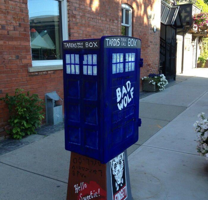 """Dr. Who Call-Box"" Utility Box Mural"
