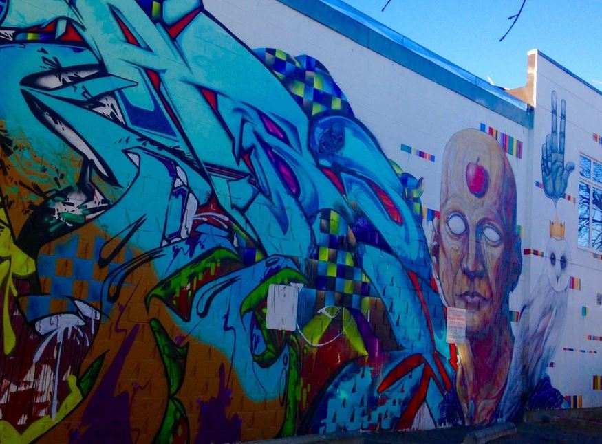 Man & Crowned Owl Mural